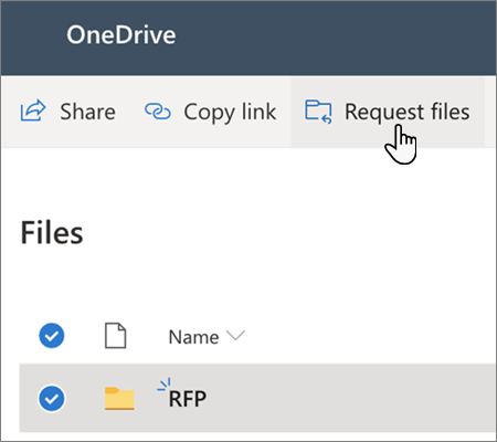 Create a file request in OneDrive