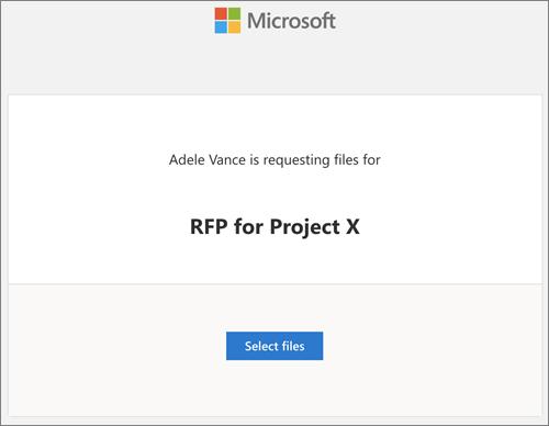 Getting a request file in OneDrive